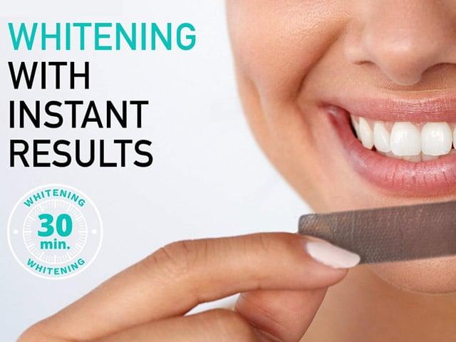 Strisce sbiancanti denti al carbone attivo, 100% naturali