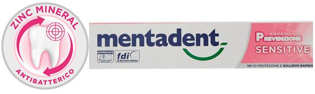 Mentadent Sensitive per Denti e Gengive Sensibili con Antibatterico