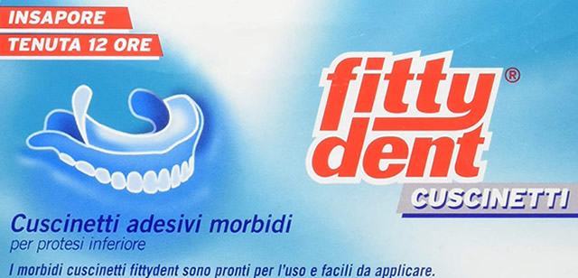 Cuscinetti adesivi per dentiere Fittydent