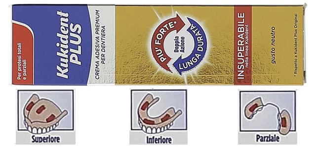 Kukident Plus Crema Adesiva Premium